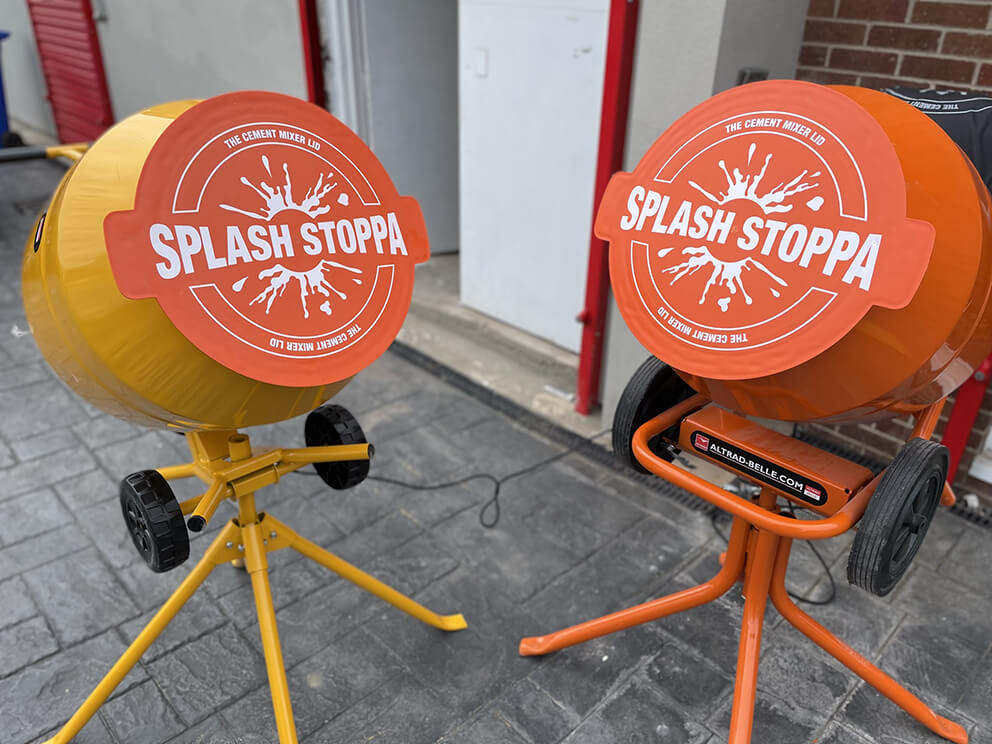Splash Stoppa Cement Mixer Lid